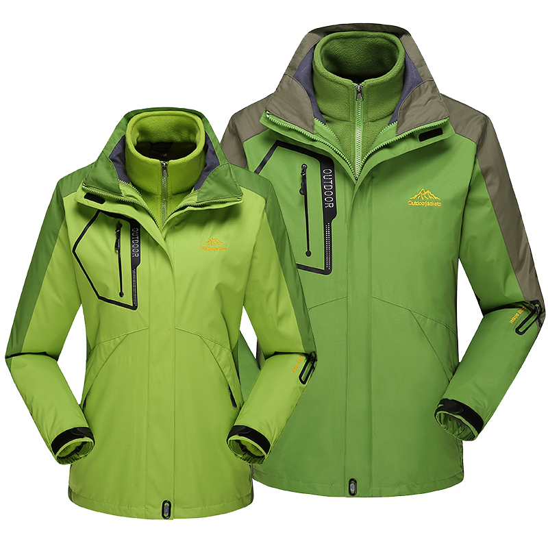 Mens and womens Plush sports windbreaker detachable tank in autumn and winter