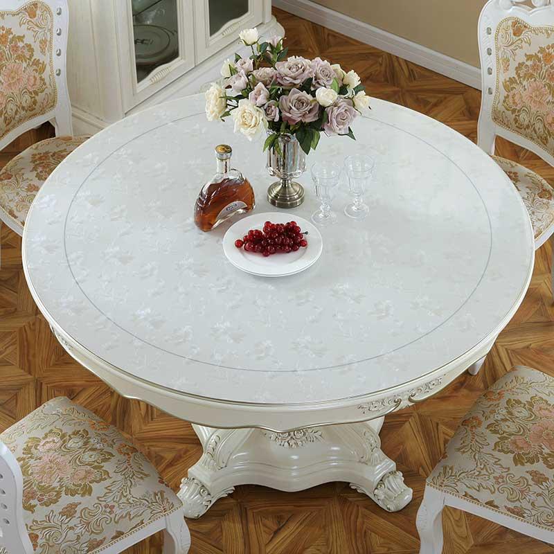 圆桌防水防烫防油免洗圆形透明台布质量好不好