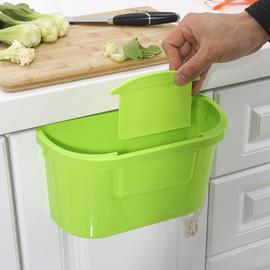 厨房壁挂式分类垃圾桶加厚塑料橱柜垃圾筒家用无盖可悬挂式收纳桶