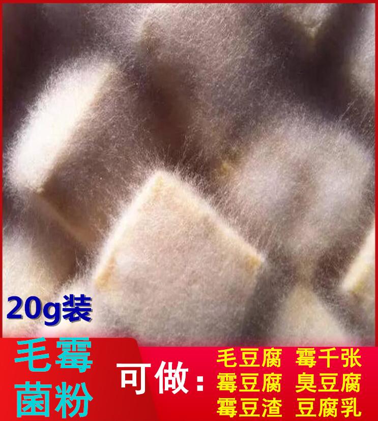 腐乳菌20g红豆腐臭豆腐菌曲粉兑水毛豆腐菌毛霉菌粉霉豆渣霉千张