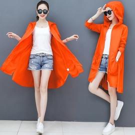 很仙的防晒衣女中长款2020韩版新款沙滩连帽长袖夏季户外网红外套