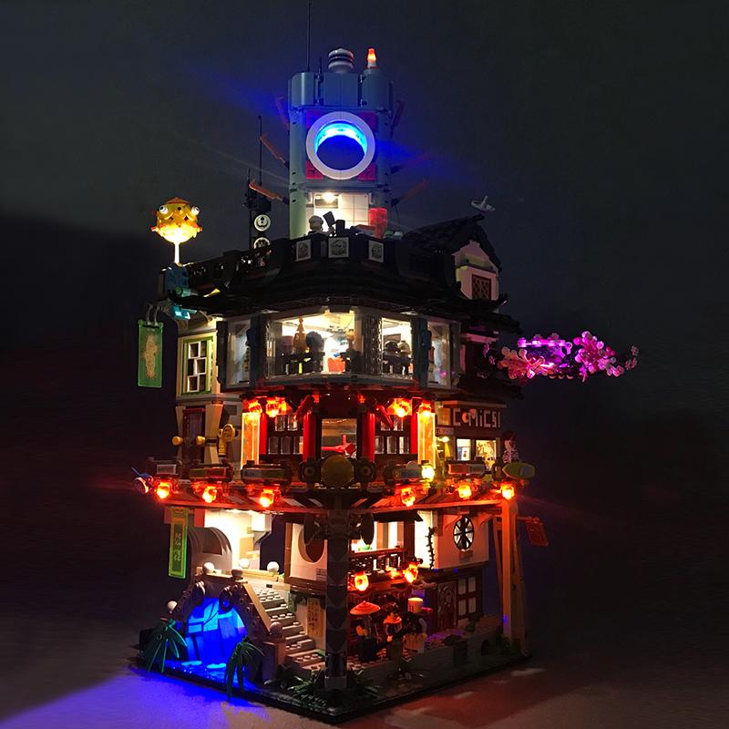 券后428.00元diy室幻影忍者城乐高70620 led灯