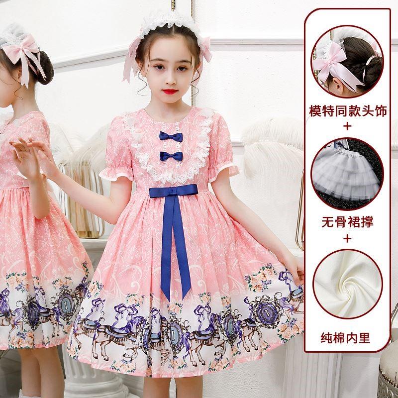 女童夏装洛丽塔公主裙夏季迪士尼儿童Lolita裙子洋装萝莉塔连衣裙