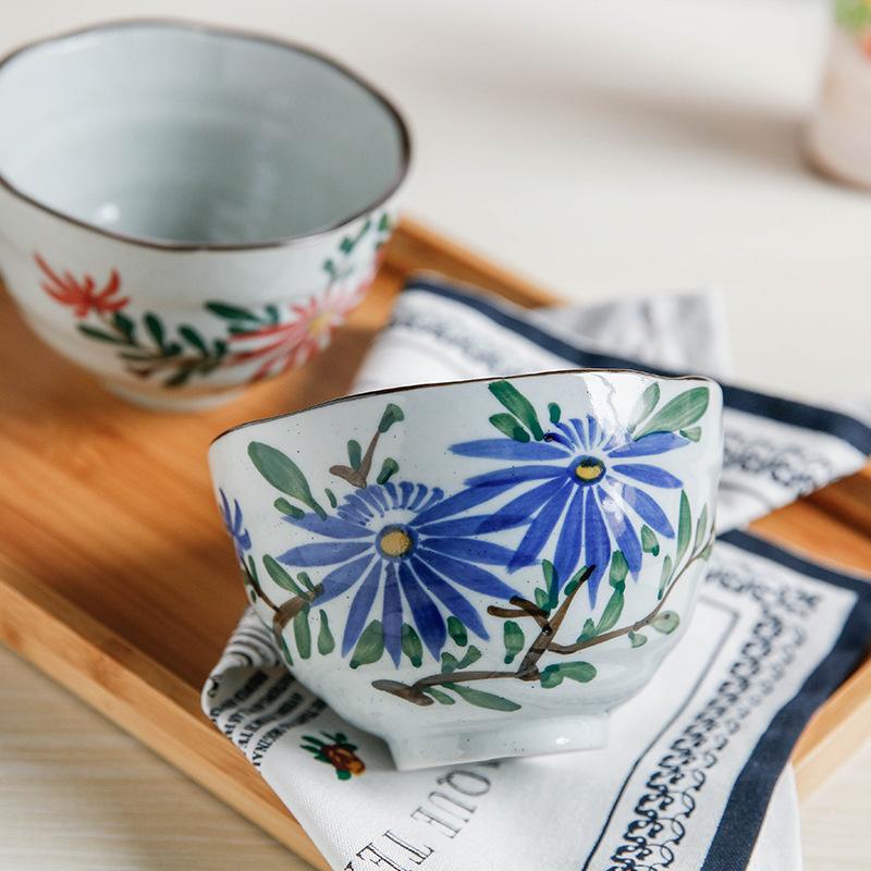 潮州外贸陶瓷饭碗 日式瓷碗日式5寸陶瓷碗斌艺陶瓷饭碗 宋青窑