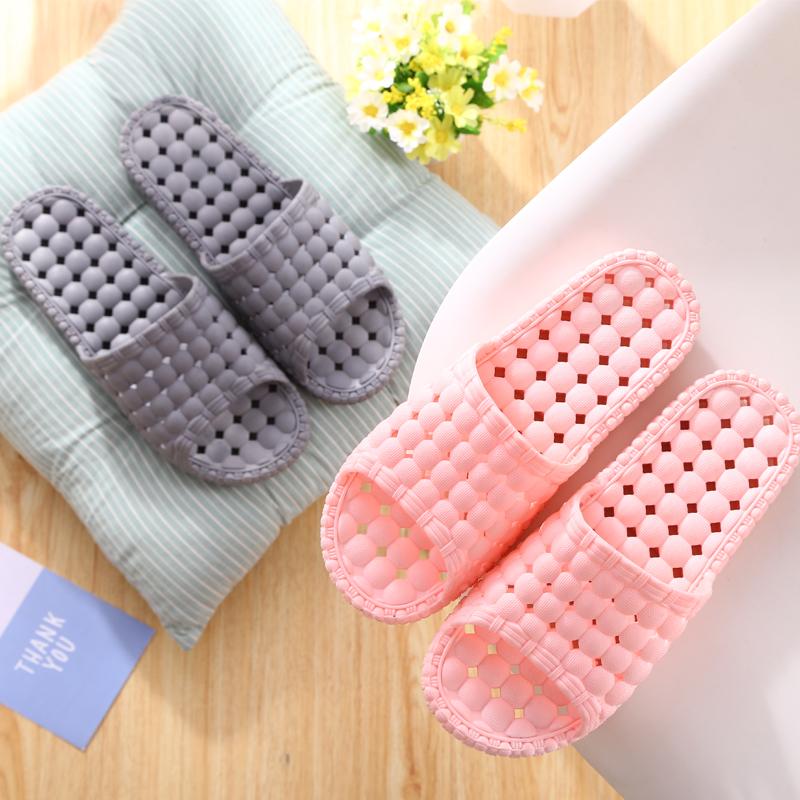 家の浴室のスリッパの女性は夏家の室内のカップルの冷たいスリッパの厚さの底のプラスチックの滑り止めの風呂スリッパを使います。