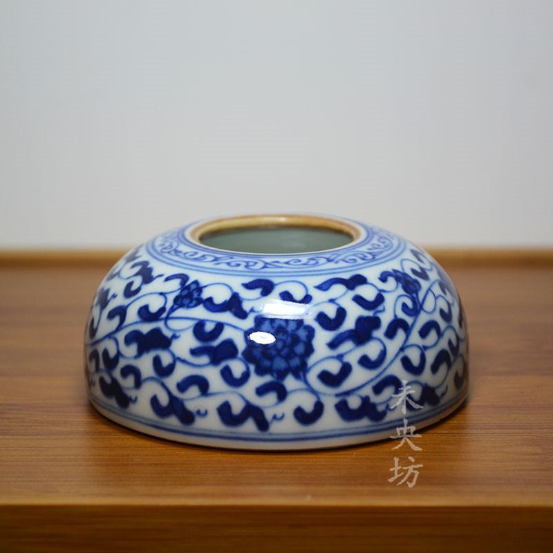Weiyangfang синий и белый запутанные ручка стирка керамические небольшие Shuishui Shuiju живопись и каллиграфия поставок Jingdezhen копия Древние орнаменты