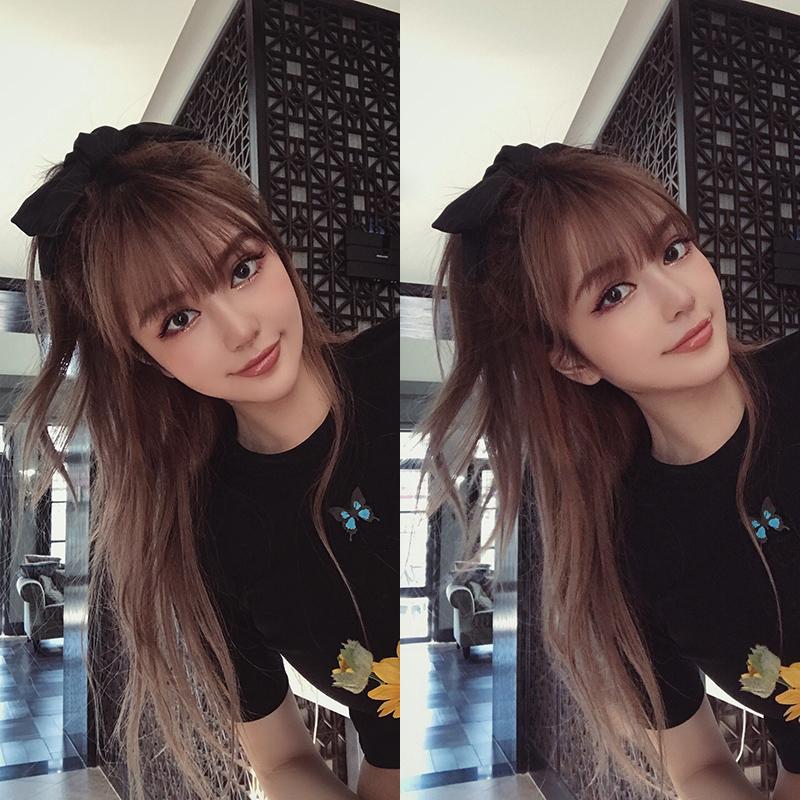 周扬青黑色大蝴蝶结发夹后脑勺韩国网红发卡头饰发饰发绳头绳女
