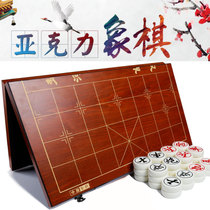 Chinese chess 40-70mm Extra-large added acrylic material square wooden box