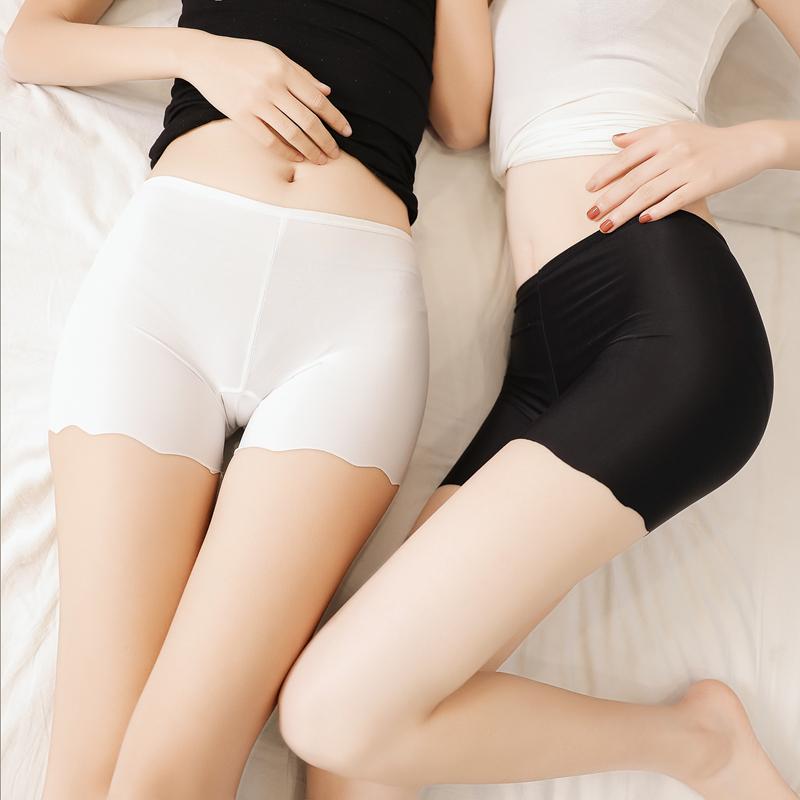 安全裤防走光女夏内外穿蕾丝三分打底裤保险裤春季薄款无痕短裤