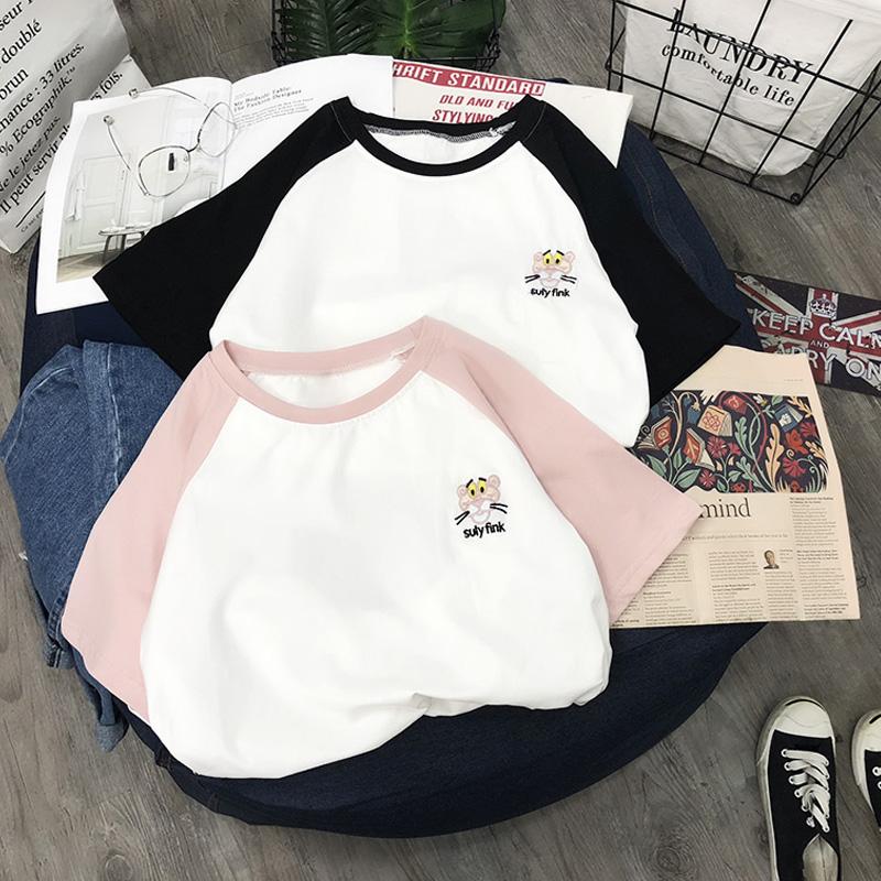 2018夏装新款ins超火的上衣服白色短袖t恤女纯棉韩版宽松学生体恤