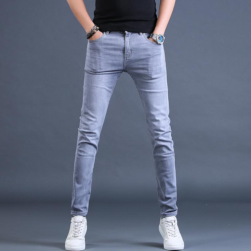 潮牌休闲弹力修身小脚男直筒牛仔裤质量好不好