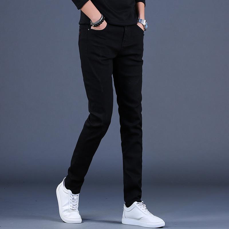 男士高端黑色潮牌修身小脚牛仔裤质量如何