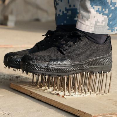 Authentic 3515 giày huấn luyện quân sự 07 giày nam mang giày Jiefang Xie trang web lao động trong ngụy trang giày vải màu đen