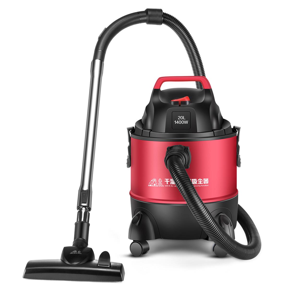 子犬掃除機家庭用強力絨毯桶式工業用乾湿両用大出力小型機D-807