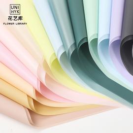 雾面纸鲜花包装纸花艺diy材料半透明纯色防水韩式玫瑰花束包花纸图片