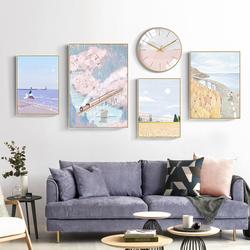 北欧风格客厅装饰画沙发背景墙装饰画现代简约日式挂画壁画24节气