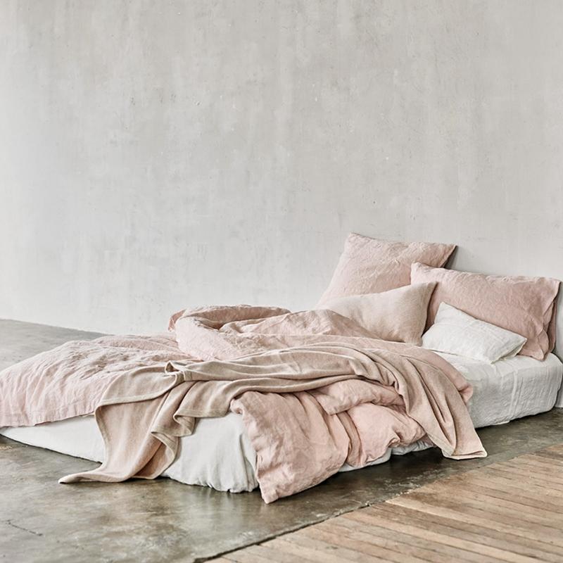 奢美品质100%汉麻hemp温暖粉色枕套12月03日最新优惠