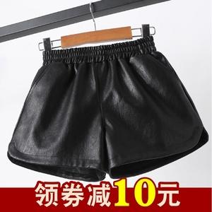 女童皮短裤秋冬外穿2021新款洋气时髦百搭儿童皮短裤女孩