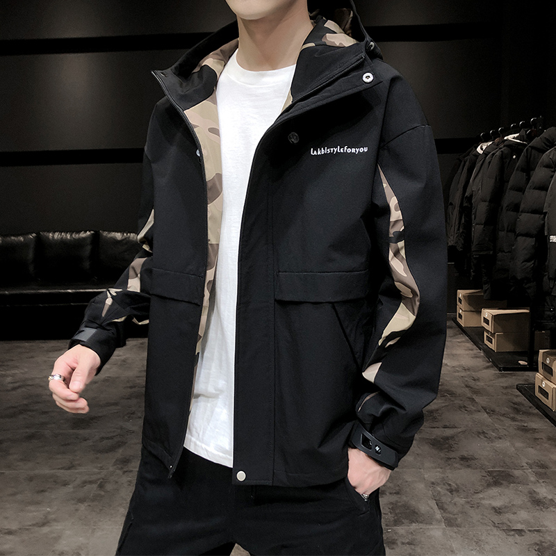 Jacket men's spring and autumn 2020 new Korean version of the trend of autumn clothes ins youth handsome tooling jacket