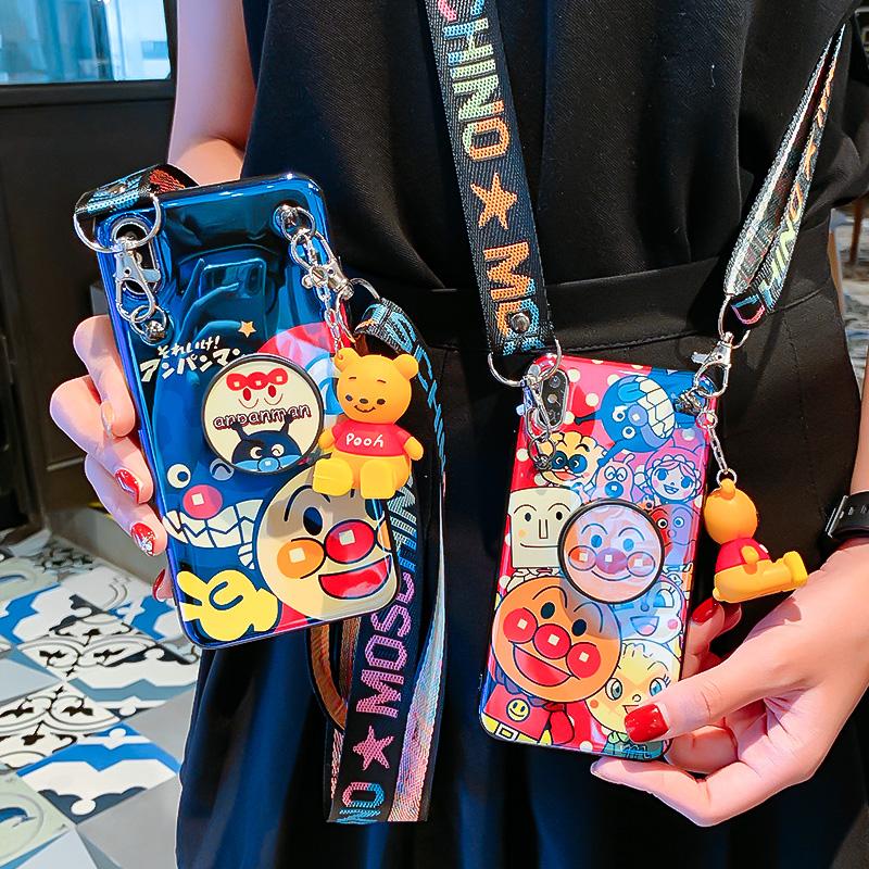 (用33.5元券)欧美卡通苹果8plus手机壳蓝光支架6sp童年同款iPhoneXsMax可背的斜