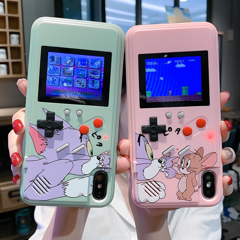 欧美怀旧回忆适用于苹果11Pro手机壳彩屏游戏机6sp网红减压iPhoneXsMax情侣款X/Xr可以玩的7plus卡通8plus六