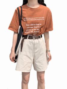 黑色夏季宽松韩版西装工装裤阔腿裤