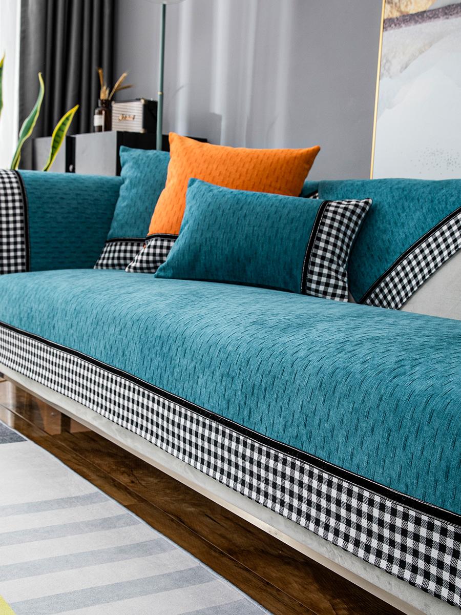 沙发垫四季通用防滑雪尼尔简约现代客厅皮沙发坐垫新中式沙发套罩