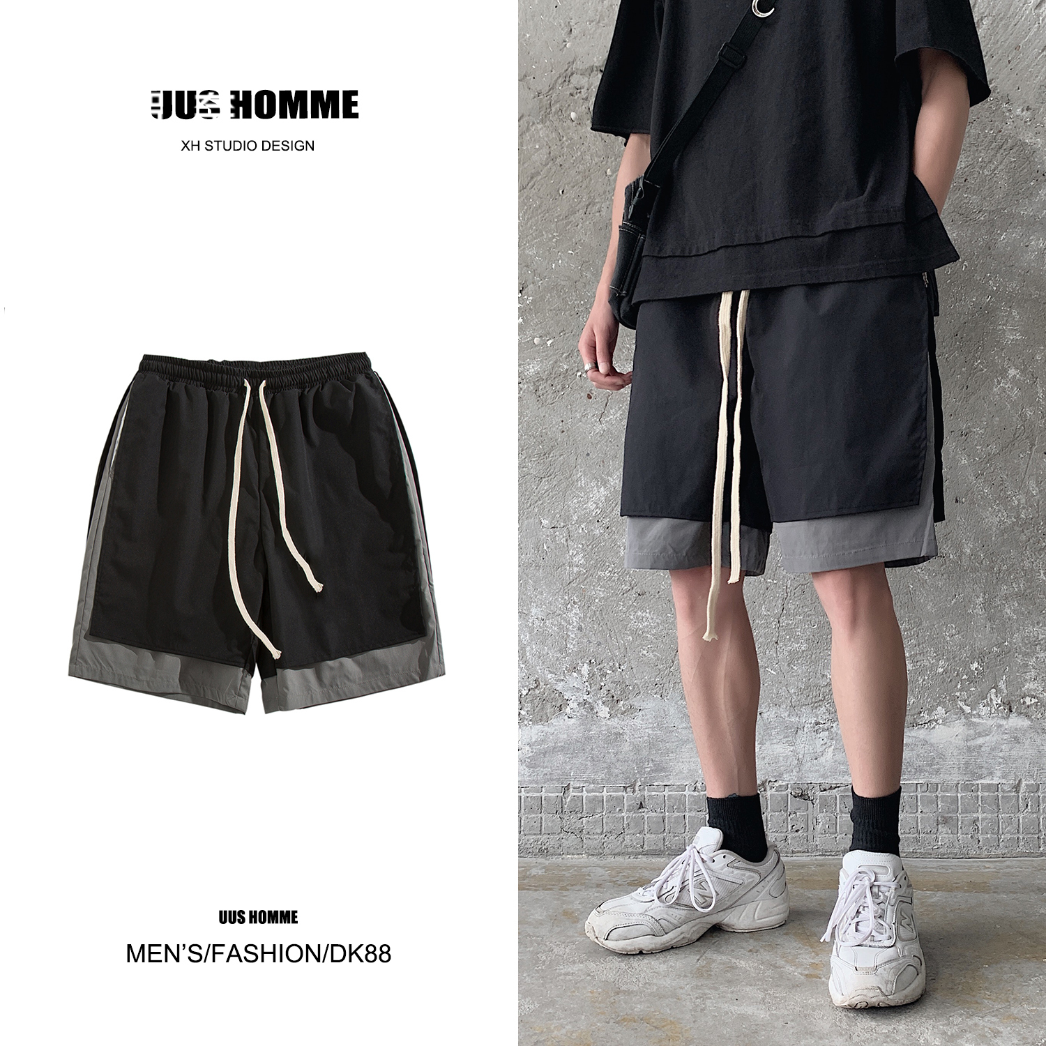 Summer trend brand men's shorts 2020 new Korean Trend loose casual 5-point beach pants for teenagers