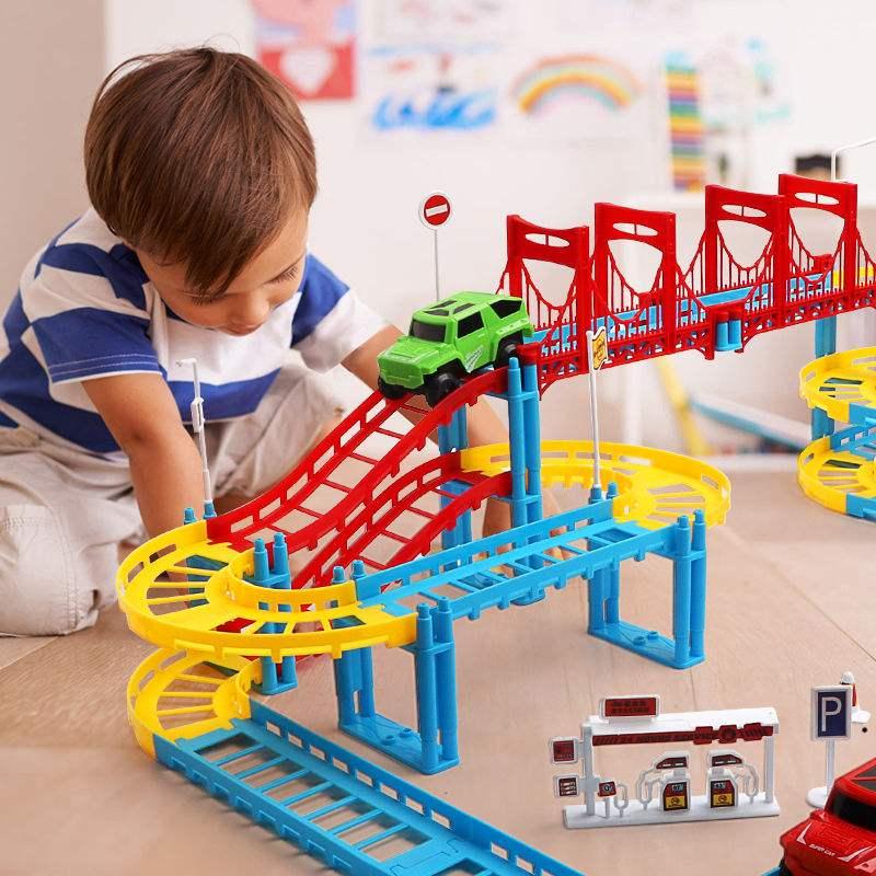 托马斯轨道火车套装儿童玩具电动轨道车拼装益智玩具汽车生日礼物
