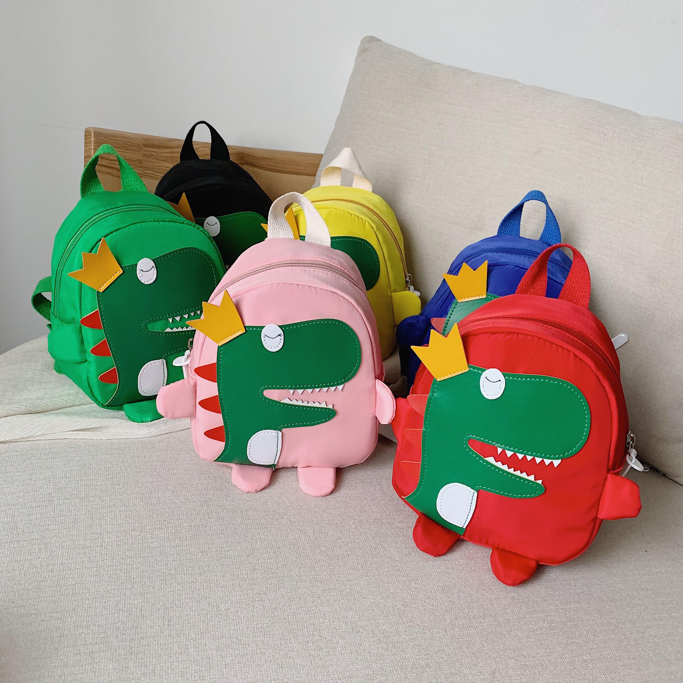 儿童包包2019新款恐龙男童双肩包卡通可爱女孩背包宝宝幼儿园书包11-27新券