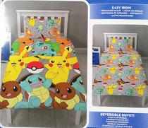 皮卡丘被套被罩枕头套135x200 儿童POKEMON卡通学生宿舍床上用品
