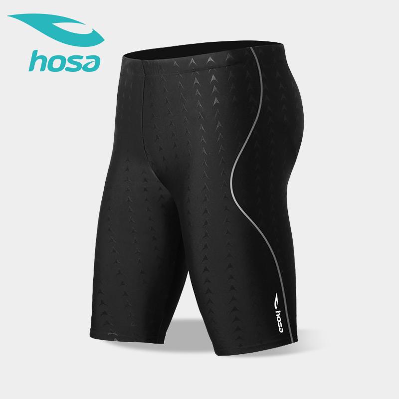 专业疏水高弹,hosa 浩沙 男士五分平角温泉泳裤