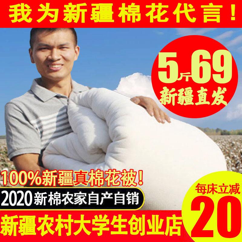 一级新疆棉被100%全棉被芯纯棉花棉絮棉花被床垫加厚冬被手工被子