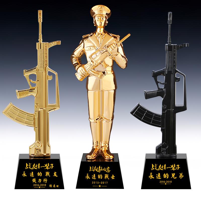 退伍军人纪念品送战友礼品定制创意实用军旅部队老兵八一纪念品