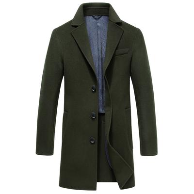 毛呢大衣男士大衣毛呢外套商务休闲中长款加厚羊毛呢子风衣外套男