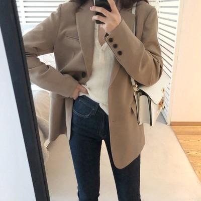外套春秋短款韩版英伦风设计感西服