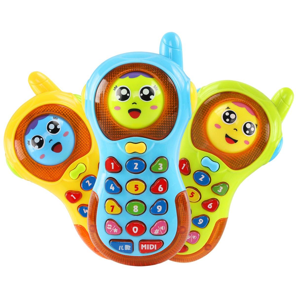 玩具手机0-3岁儿童音乐手机玩具电话智能男孩女孩益智带灯光歌曲