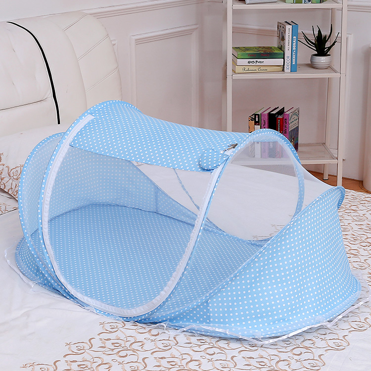 婴儿蚊帐免安装可折叠宝宝幼儿蒙古包夏防蚊床罩新生儿床儿童蚊罩