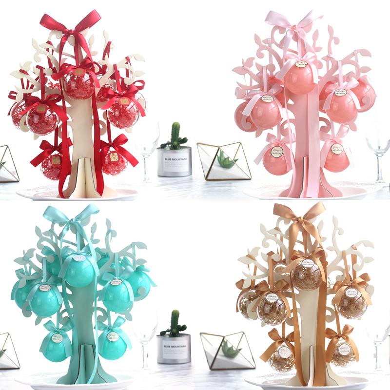 卡梅丽多爱情树婚礼结婚喜糖盒子(非品牌)