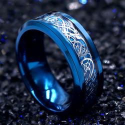 个性龙纹戒指男士霸气韩版钛钢食指环单身潮男学生戒指尾戒子饰品
