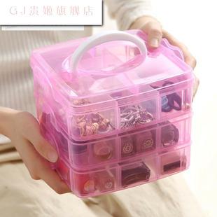 贵摆件首饰盒大容量超大多功能小型精品韩国毛衣链空盒项链盒饰品品牌