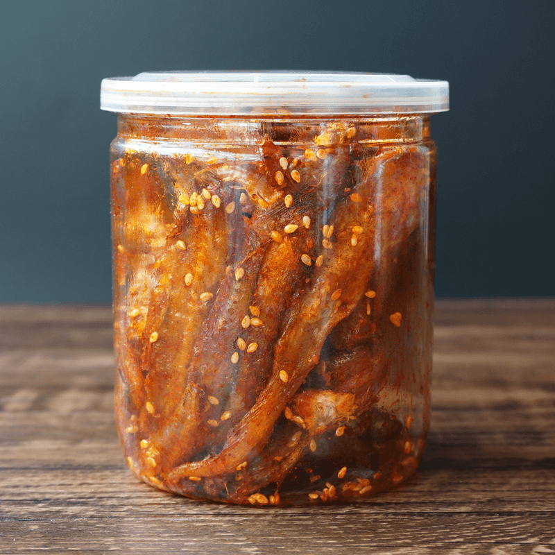 Spicy, sweet, spicy, dried fish, shredded eel, Weihai specialty, dried seafood, canned snacks and instant snacks