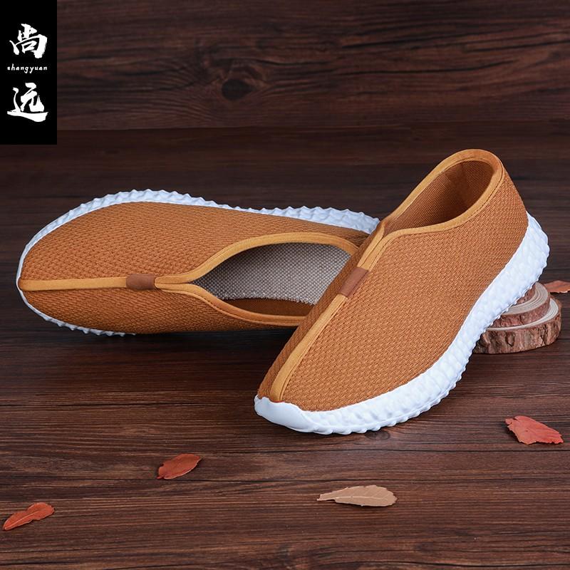 休闲鞋轻底僧鞋男女时尚居士鞋禅修鞋低帮布鞋软底和尚鞋透气