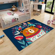 Cartoon Children's Carpet Living Room Children's Room Carpet Bedroom with Tatami Bedside Carpet Rectangular Crawling Mat