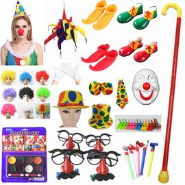 小丑装备cosplay小丑服配件配饰小丑面具 鼻子小丑假发小丑鞋用品图片