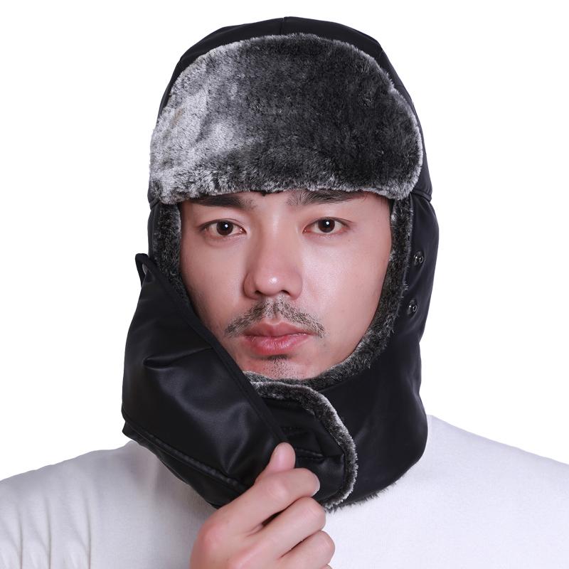 帽子男士冬天韩版户外棉帽东北加厚护耳雷锋帽女冬季骑车保暖帽