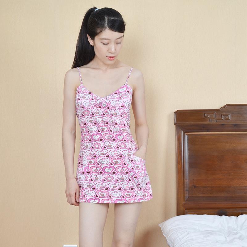 吊带性感纯棉睡裙夏季带短款夏裙券后19.90元