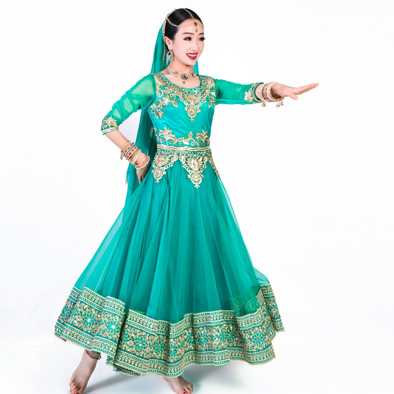 依曼印度服饰女安娜卡丽套装头纱打底裤连衣裙尼泊尔巴基斯坦纱丽