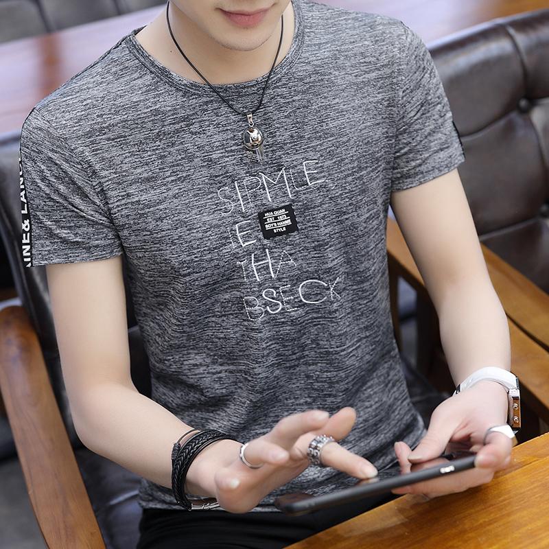 男士短袖T恤韩版上衣新款长袖体恤夏季潮男T恤半截袖打底衫衣服图片