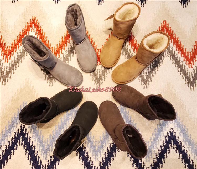 澳洲AustraLianLeather澳产经典中筒羊皮毛一体防水款雪地靴